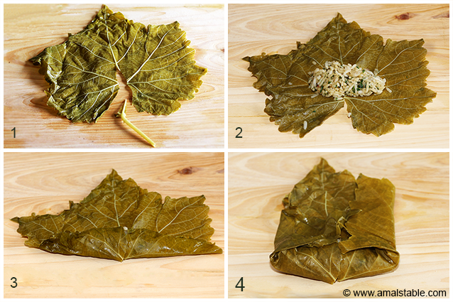Grape leaves how to roll